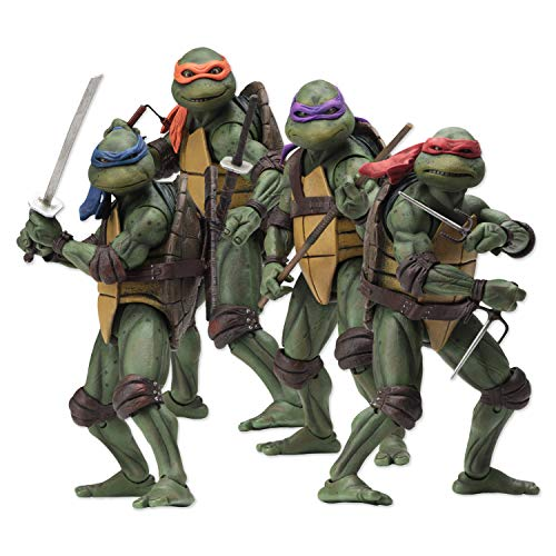 TMNT - Teenage Mutant Ninja Turtles - NECA Komplettes Set Scale Charaktere Action Figure Actionfigur Original 1990er Film