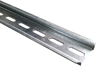 Carril de soporte para carril DIN TH35, 15 cm, perforado, galvanizado, 0915