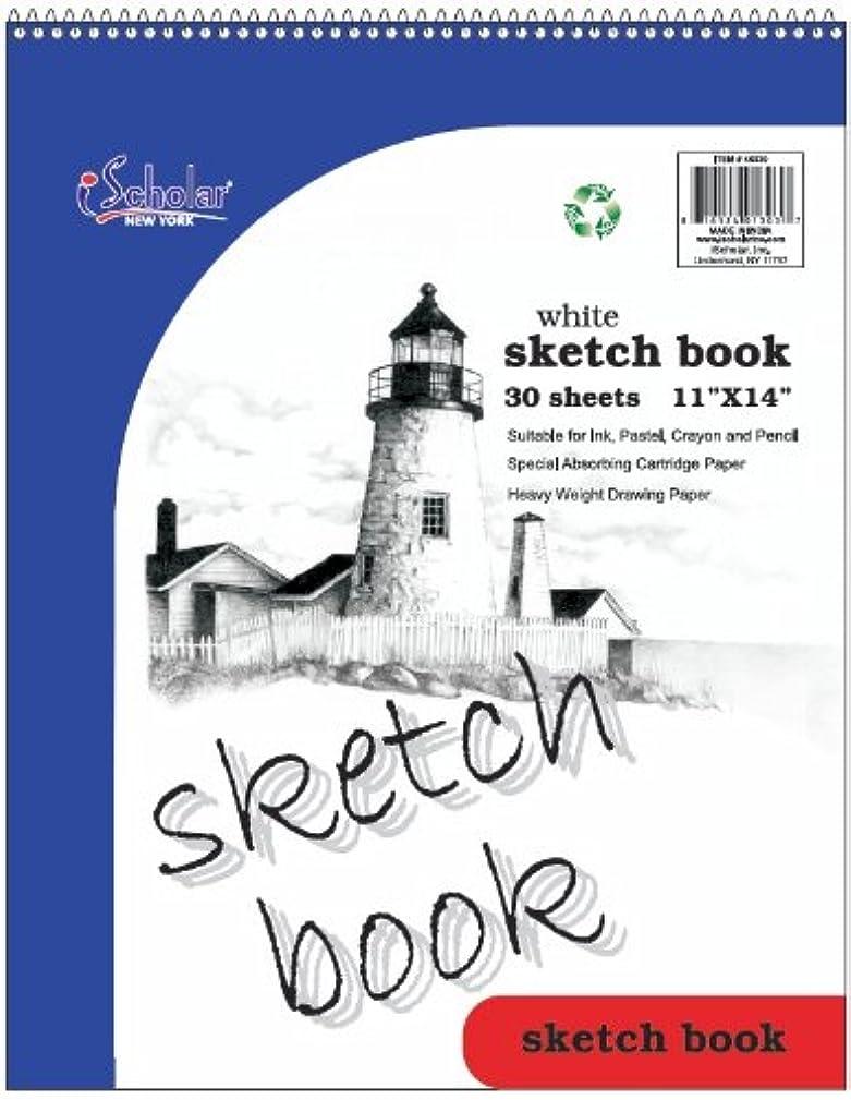 iScholar Sketch Book, Top Wirebound, 30 Sheets, 11 x 14-Inches, White (46030)