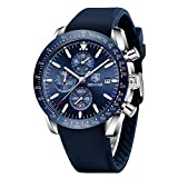 BENYAR - Stylish Wrist Watch for Men, Silicon Strap Quartz Movement, Waterproof and Scratch Resistant, Analog Chronograph Business Watches