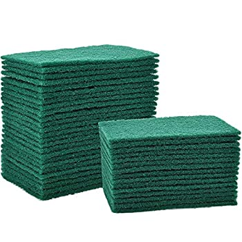 Jetec 40 Pieces Cleaning Scrub Sponge Scouring Sponge Pads Non Scratch Pads for Kitchen Dishes Cleaning  Green