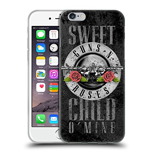 Head Case Designs Licenza Ufficiale Guns N' Roses Sweet Child O' Mine Vintage Cover in Morbido Gel Compatibile con Apple iPhone 6 / iPhone 6s