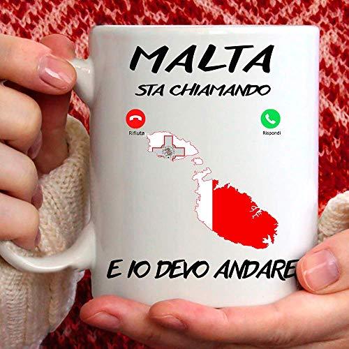 Taza Malta apta para desayuno, té, tisana, café, capuchino. Taza Malta Mi Sta llamando y yo debo andar. Idea regalo original