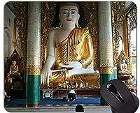 賭博のマウスパッド、ステッチされた端が付いているシュエダゴン仏像のマウスパッド