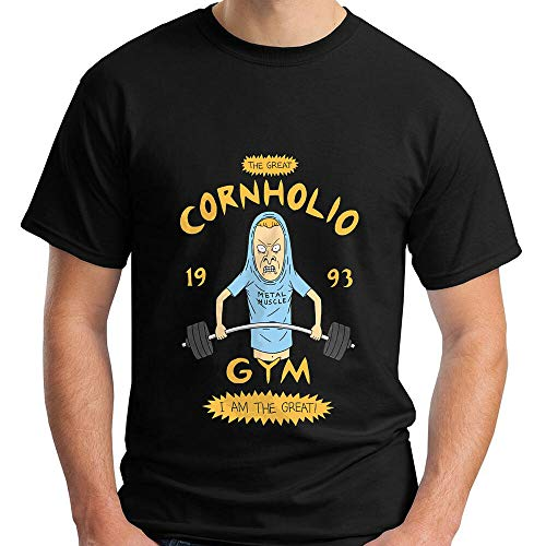 RDL Beavis And Butthead Cornholio Gym I Am The Great Funny Men's T-Shirt Black S