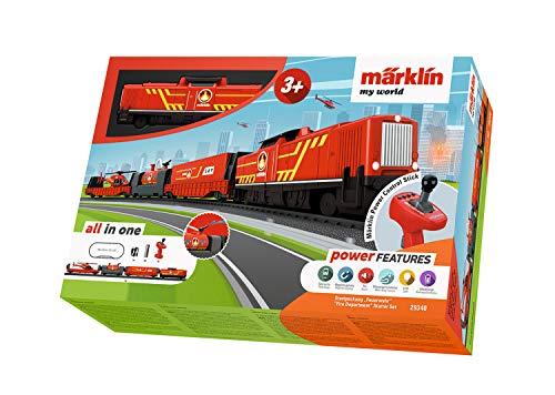 """Spielzeugeisenbahn Märklin my world 29340 - Startpackung """"Feuerwehr"""" (Akku), Modelleisenbahn Spur H0 Startset"""