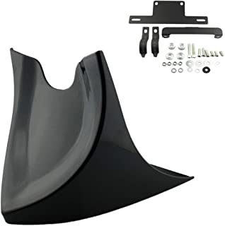Gloss Black Motorcycle Front Chin Spoiler Air Dam Fairing Cover Mudguard Air Dam Fair for Harley Sportster Dyna Fatboy Softail V-ROD Touri Sportster 48 883 1200 2004-2018