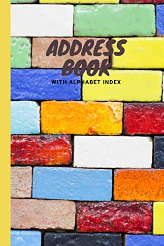 Address Books with Alphabet Index: Telephone Address Book, Names, Addresses, Phone Numbers, Email, Notebook for Contact and Birthday, Journal with ... | Large Print | Flower Bud Pattern Design
