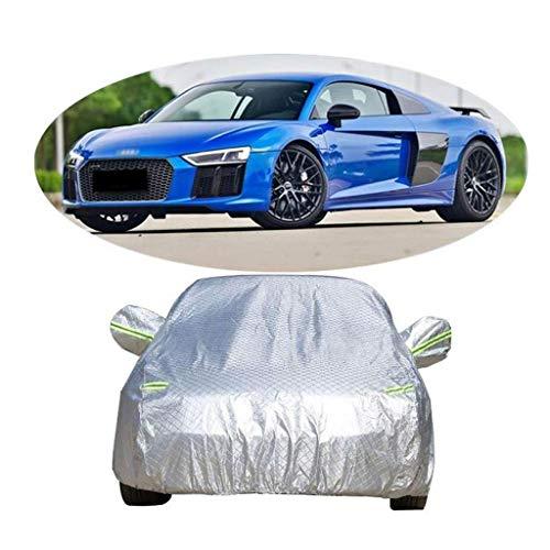 WYLZLIY-Home Cubierta de coche impermeable para todo tipo de clima, deportivo con tiras fluorescentes, cubierta impermeable para interiores y exteriores, protección solar UV
