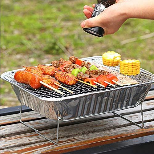 51GthMXKGoL - TYZY Einweg-Grill Feld tragbarer Kohle Mini Kohlegrill Hohe thermische Effizienz Barbecue Ofen für Außenhandelshauptständer