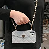 Luxury Crossbody Handbag Purse Phone Case for iPhone 11 Pro Max XS MAX XR X 6 7 8 Plus Silicon Card Slot Long Chain Wallet Cover (Gray,for iPhone 11) -  TTT
