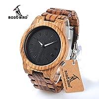 BOBO BIRD メンズクォーツ腕時計 木製防水クロノグラフ腕時計 時計箱付き