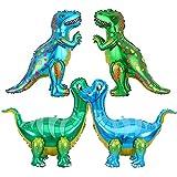 SUNSK Palloncino Dinosauro 3D XXL Gonfiabili Palloncini Elio Animale Foglio di Alluminio Palloncino Decorazioni per Festa di Compleanno 4 pz