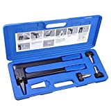Yescom PEX Expansion Tool Kit Tube Expander with 1/2' 3/4' 1' Expander Heads Hard Carry Case