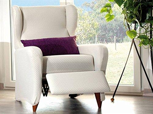 LaNovenaNube Überwurf für Sucre Sessel Grau Modern Relax 1 plaza schokoladenbraun