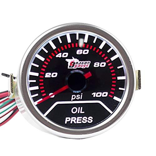 E Support 12V Auto Motore 2' 52mm Universale Pressione dell'olio Manometro