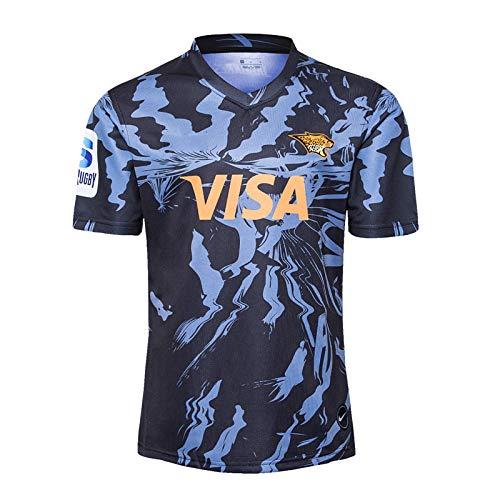 YINTE 2020 Jaguar-Weltmeisterschaft Rugby-Trikots, Heim- und Auswärts Schulung Wettbewerb Fußball Jersey, Supporter Fußball-Sport-Top, Ideal für Freizeit und Sport Away-L