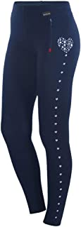 Newland Mary Navy - White Swing on Snow DHTech 400 Leggings with Pockets
