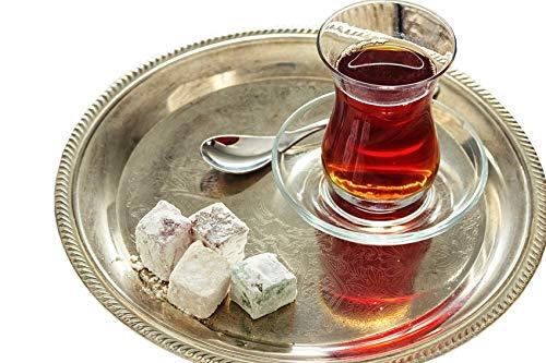 Topkapi - 18-tlg Türkisches Tee-Set Ajda-Sultan, 6 Teegläser, 6 Untersetzer, 6 Teelöffel, Komplett-Set, Transparent