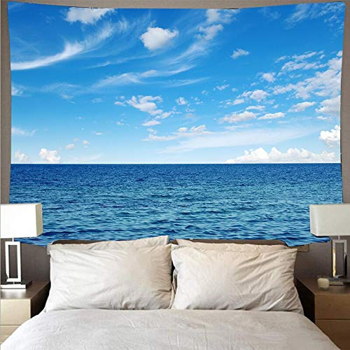 Blaues Meer ruhiges Meer Landschaftsstil...