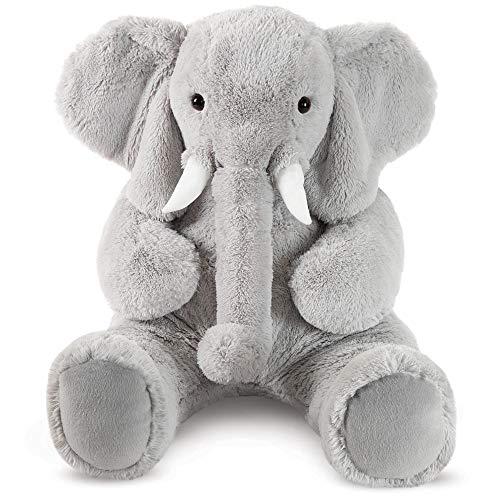 Vermont Teddy Bear Giant Elephant Stuffed Animal - Giant Stuffed Animals, 4 Foot