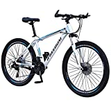 Bicicleta Montaña 26 Pulgadas, Variable Adulto Velocidad De Bicicleta Aleación Big Wheels Freno De Montaña, Suspensión Completa MTB Dual Disc Safty Trail Bike Bicicletas Bicicletas Bicicletas,C