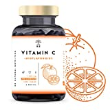 VITAMINA C DOSIS ALTA 1000mg + Bioflavonoides - Vit C Pura Natural Reduce el Cansancio y la Fatiga, Contribuye al Funcionamiento del Sistema Inmunológico - Vegano 180 Cápsulas N2 Natural Nutrition
