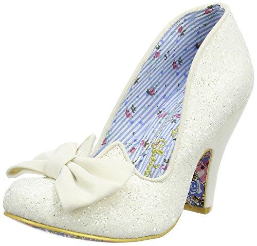 Irregular Choice Nick Of Time, Damen Pumps, Off White (Cream Glitter), 39 EU