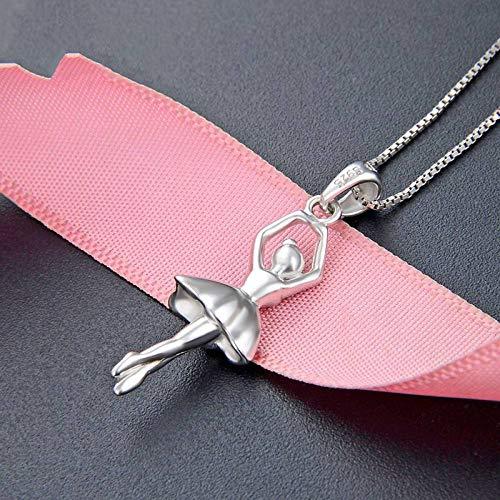 925 zilveren hangers voor dames, mode romantisch kettingloos schattig dans ballerina vorm charme hanger voor dames sieraden accessoire verjaardag cadeau partij accessoires
