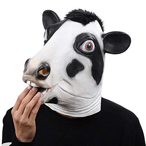 Halloween In Lattice Animale Testa Maschera Buffo Mucca Faccia Piena Maschera Cosplay Novità Mascherata Costume Partito Puntelli Giochi Di Ruolo Per Adulti
