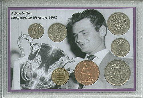 Aston Villa (The Villans) Vintage League Cup Final Winners Retro Coin Present Display Gift Set 1961