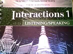 Best interactions 1 listening and speaking teacher's book Reviews