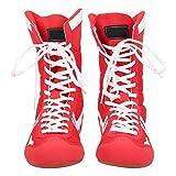 Wrestling Boxschuhe, Martial Arts Taekwondo Sanda Trainingsschuhe, High-Top Knöchel, mit...