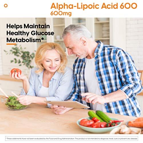 Doctor's Best Alpha-Lipoic Acid, Non-GMO, Gluten Free, Vegan, Soy Free, Helps Maintain Blood Sugar Levels, 600 mg 180 Veggie Caps