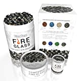 EcoGen Fire Glass for Outdoor Fire Pits and Indoor Fireplace, Color, Optimal Heat for Propane or...
