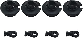 Plastic Heavy Duty Shock Rod End and Spring Cup Set (2 Pair) for Arrma 6s Notorious Kraton Outcast Typhon Talion Infractio...