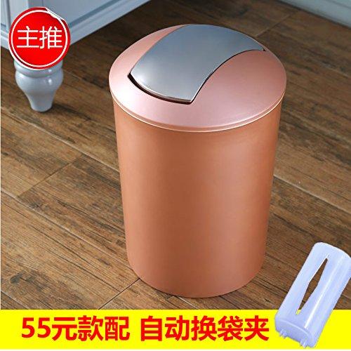 Xiuxiutian Bacs à ordures extérieurs Couvercle en Plastique pour l'office National de la Salon Cuisine Toilettes Poubelle 23,5 * 34cm, Style 4