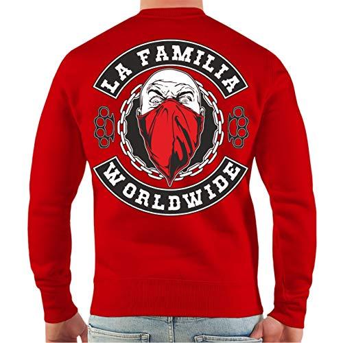No Fight No Glory Männer und Herren Sweatshirt Pullover La Familia Worldwide