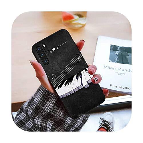 Piano pintura arte teléfono caso para Huawei honor mate P 9 10 20 30 40 pro 10i 7 8 a x Lite nova 5t-a7-huawei nova 5t