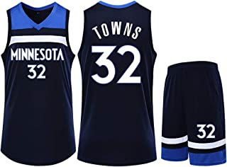 Camiseta de los Minnesota Timberwolves Player Karl Anthony Towns 32 para Hombre, Camiseta Personalizada de Baloncesto