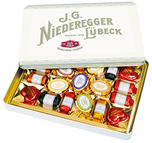 Niederegger Marzipanerie Assortment in a Nostalgia Tin - 270g/9.6 oz