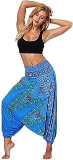 QUICKLYLY Yoga Mallas Leggins Pantalones Mujer,Pantalones De Yoga Holgados Sueltos De Verano para Mujer Pantalones Holgados De Bohemio Y Aladdin De Boho
