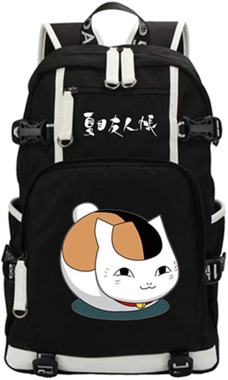 Natsumes Buch Der Freunde Anime Rucksack Schüler Schüler Schüler Schultasche Laptop Buch Tasche Casual Daypack B07NMTFV8X  Karamell, sanft 8e8483