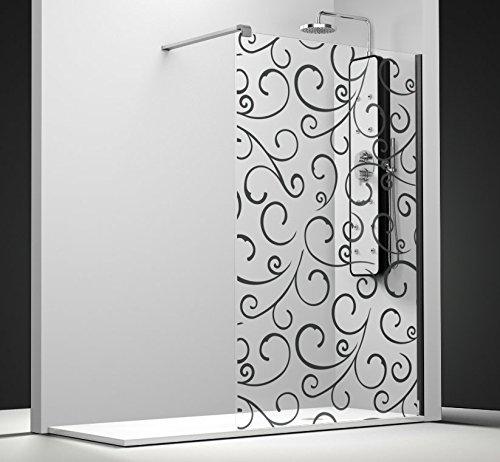 Mampara de ducha fijo Belus vidrio Securit 8 mm antical personalizable con barra de refuerzo derecha: Amazon.es: Bricolaje y herramientas