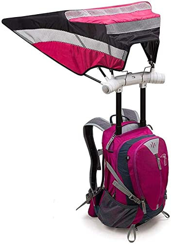 Portable en Plein Air Hommes Femmes Affaires Sac à Dos Construit en Parapluie Prougeection Contre La Pluie USB Chargeant Parfait Sac à Dos De Voyage Occasionnel Parapluie Résistant,rose
