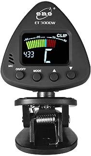 Bulufree ET 3000W Clip-on Tuner para instrumentos de viento compatible con micr/ófono y modos de sintonizaci/ón con clip Pick-up para saxof/ón clarinete trompeta flauta