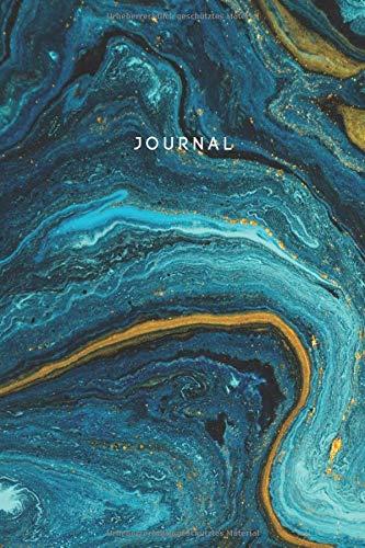 Journal Marmor Türkis Blau: Notizbuch Dotted (Punktraster) I A5 I 160 Seiten