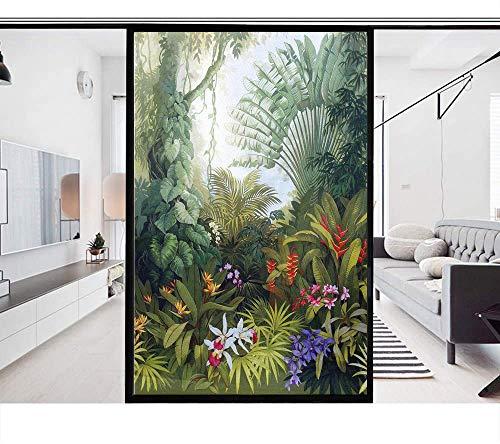 LXX Sichtschutz-Fensterfolie, statisch haftend, Milchglas-Aufkleber, Fensterabdeckung für Zuhause, Glas, UV-Blockierung, Privatsphäre, Hitzeregulierung, 70 x 180 cm
