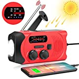 Wind Up Emergency Weather AM/FM/NOAA Solar Crank Radio with 2000 mAh Power Bank, Flashlight,SOS Alarm, Phone Charger for Hurricanes, Tornadoes and Storms