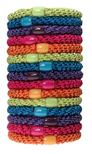 L. Erickson Grab & Go Ponytail Holders, Candy, Set of Fifteen - Exceptionally Secure with Gentle Hold